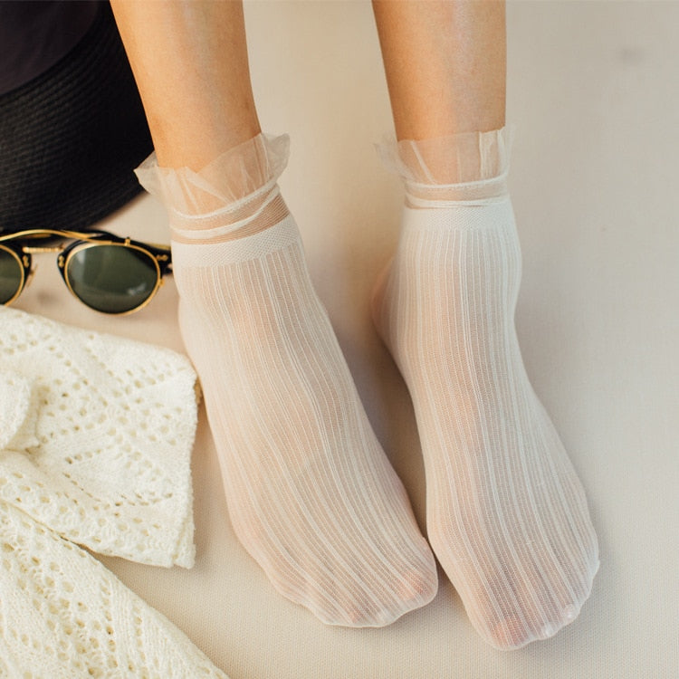 Woman's Soft Cute Nylon Socks