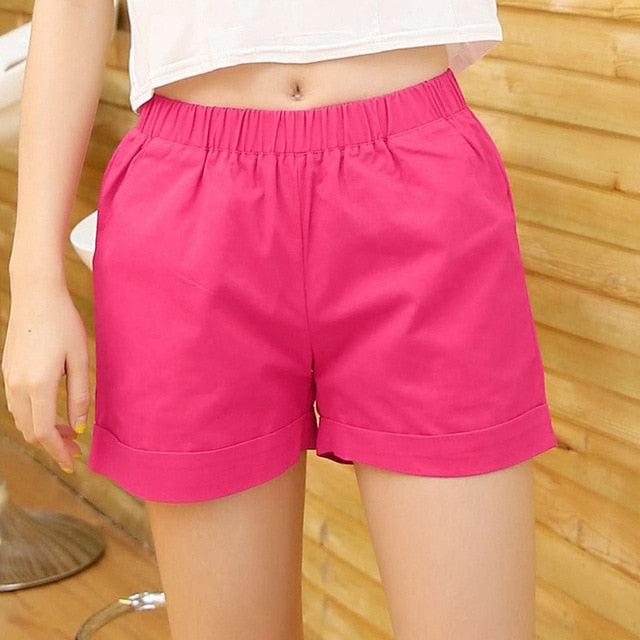 Women's Casual Style Slip On Shorts