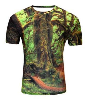 Men's 3D Graphic Print Short Sleeve Shirts