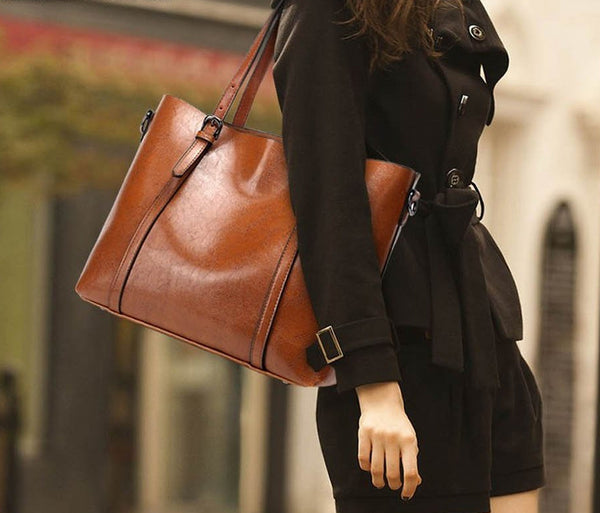 Women's Leather Handbag Tote