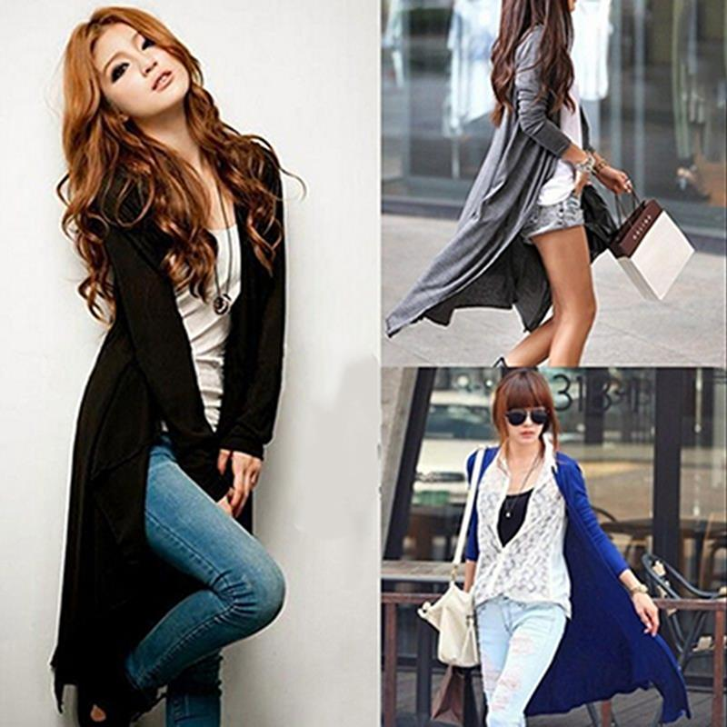 Women's Thin Kimono Cardigan Long Sleeve Sweater