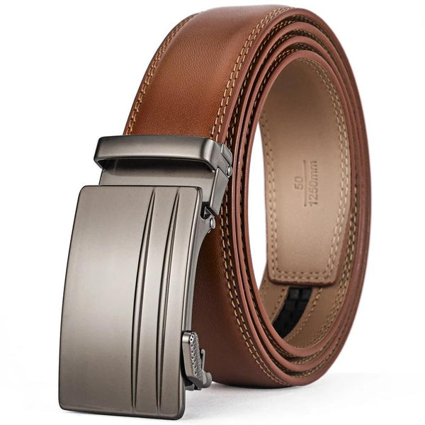 Men's Genuine Cow Leather Automatic Buckle Belt