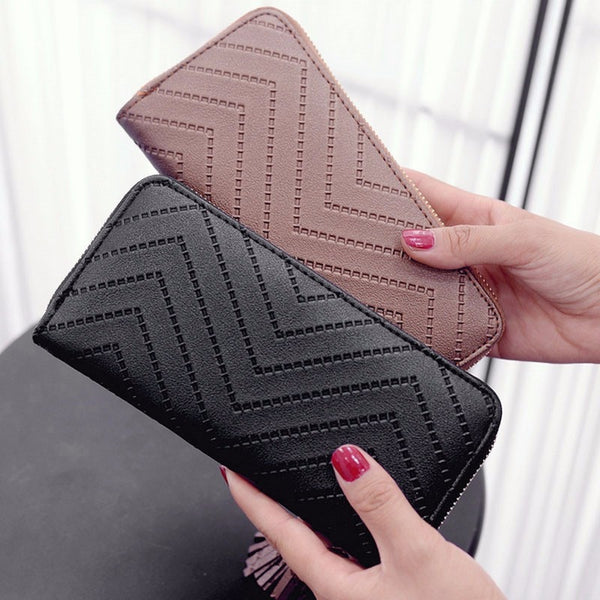 Women's Long Wallet Tassel Clutch