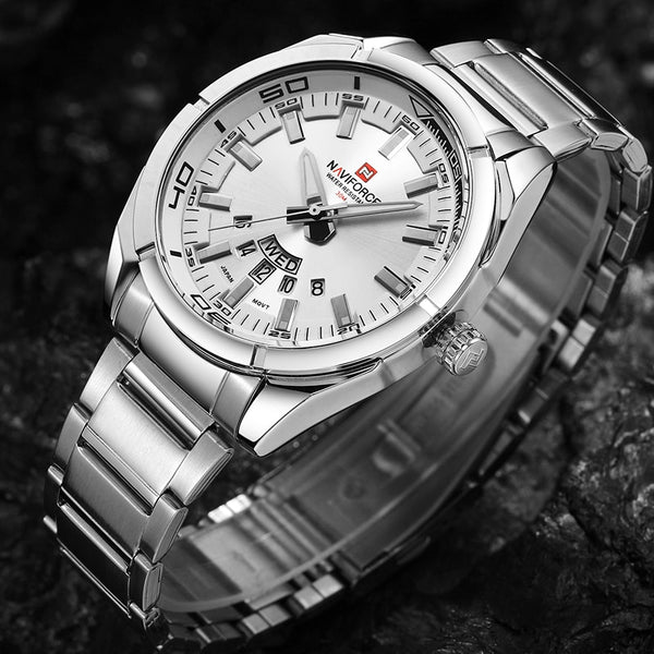Men's Steel Waterproof Casual Quartz Watch