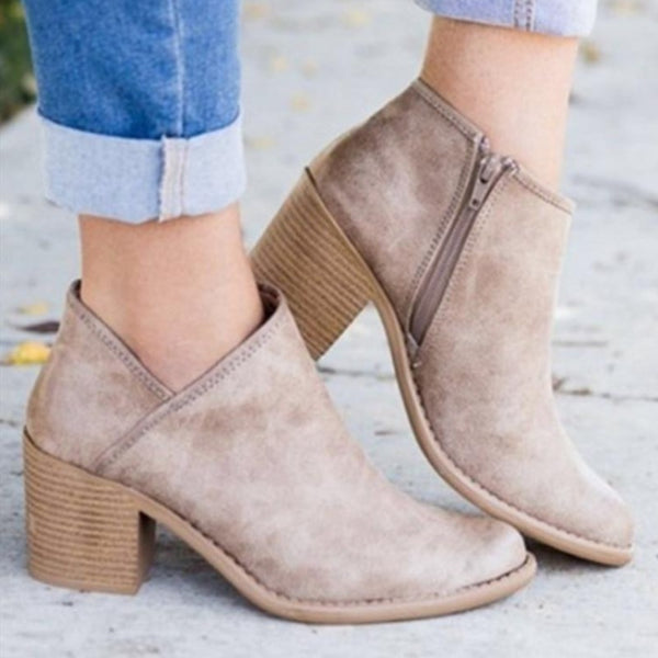 Women's Chic Summer Heeled Ankle Boots