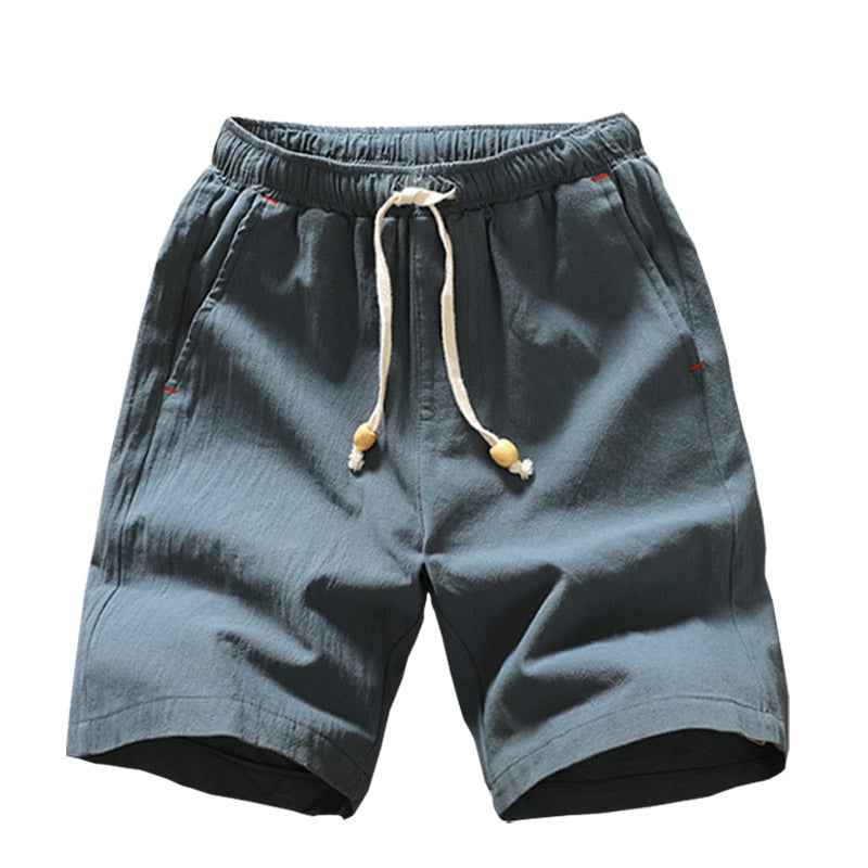 Men's Casual Cotton Drawstring Beach Shorts