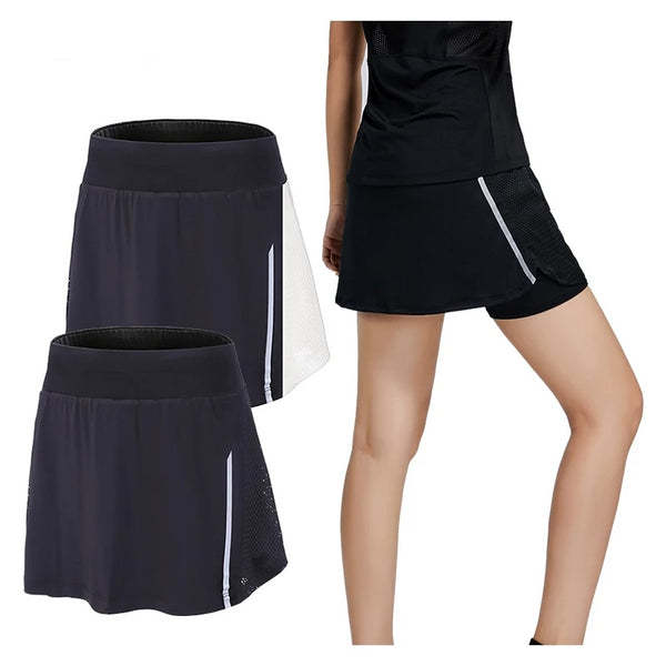 Sport Short Skirt Fitness Tennis Breathable Quick Dry Skort