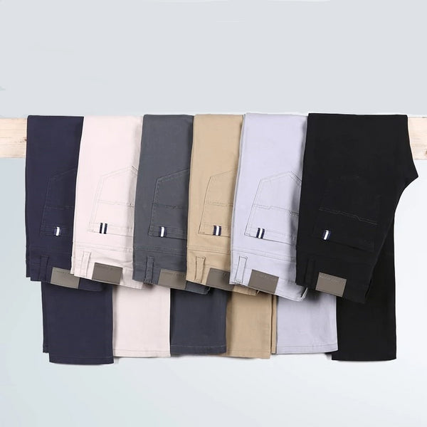 Men's Slim-fit Dress Chinos Trousers