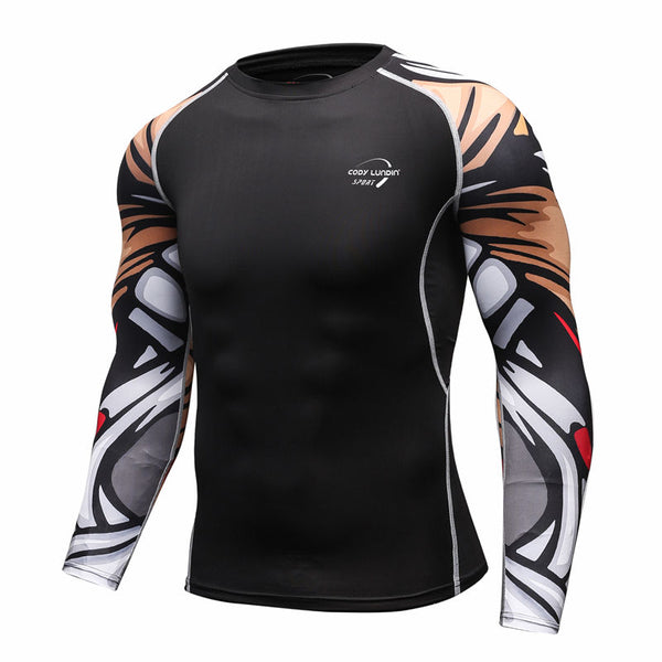 Men's Compression Fitness Sportswear Long Sleeve Shirt