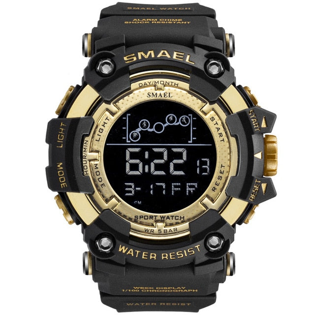 Men's Military Water Resistant Sports Watch with LED Digital Display