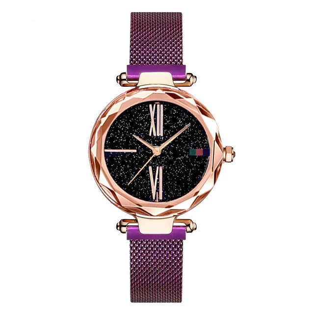 Women's Magnet Buckle Starry Sky Watch