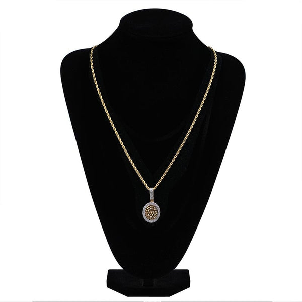 Double Layered Necklace AAA Cubic Zirconia Necklace & Pendant 24K Gold Plated or Silver