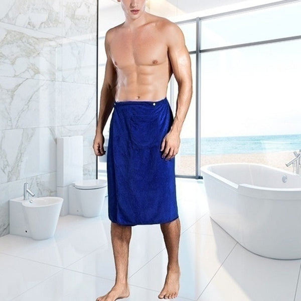Men's Stylish Waist Bathrobe Towel
