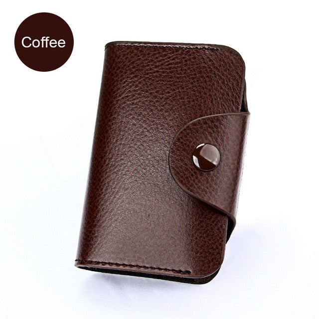 Men's Genuine Leather ID Credit Card Wallet