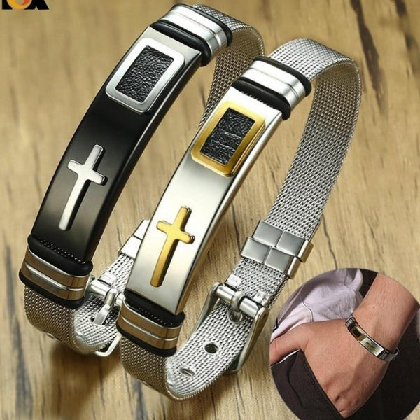 Men's Stainless Steel Adjustable Length Bracelet