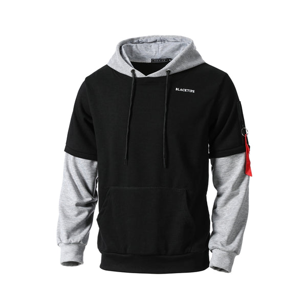 Men's Urban Patchwork Two Tone Pullover Hoodie