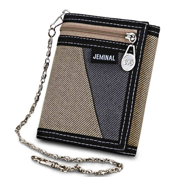 Men's Synthetic Leather Patchwork Wallet