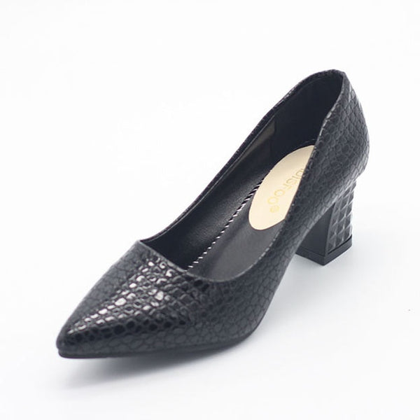 Women's Square Heel Pointed Toe Heels