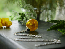 Load image into Gallery viewer, St. Andrews buttercup long sterling silver necklace