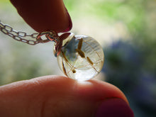 Load image into Gallery viewer, Loch Ness dandelion seed sterling silver necklace
