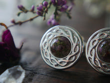 Load image into Gallery viewer, Highland heather silver cufflinks