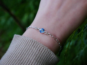 Isle of Arran forget me not sterling silver bracelet