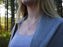 Load image into Gallery viewer, Pitlochry dandelion seed rose gold necklace