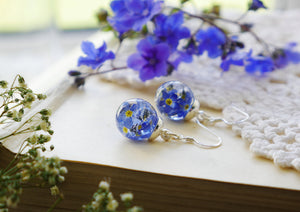Isle of Arran forget me not sterling silver earrings