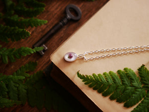 Isle of Harris heather bud sterling silver necklace