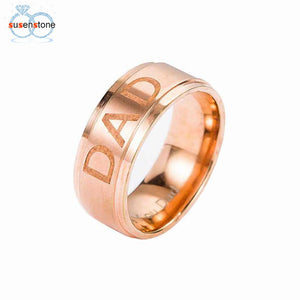 Men's Stainless Steel Ring with Inner Engraving Love You Dad
