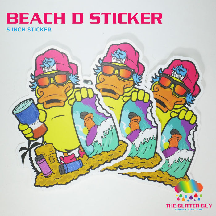 Beach D Sticker