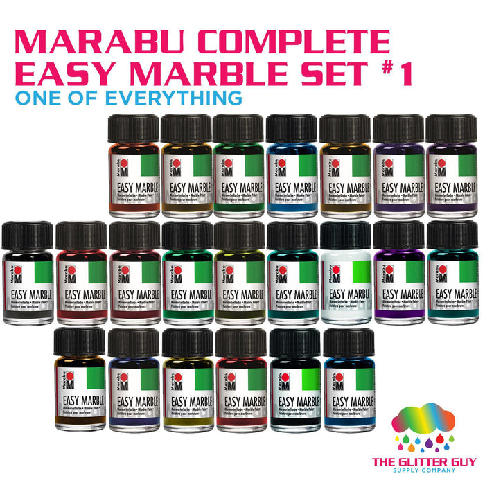 Marabu Complete Easy Marble Set 1 (One of Everything)