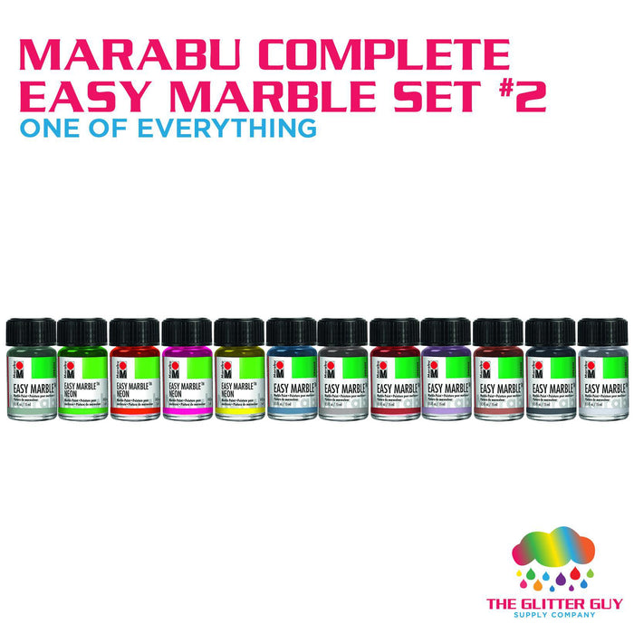 Marabu Complete Easy Marble Set 2 (One of Everything)