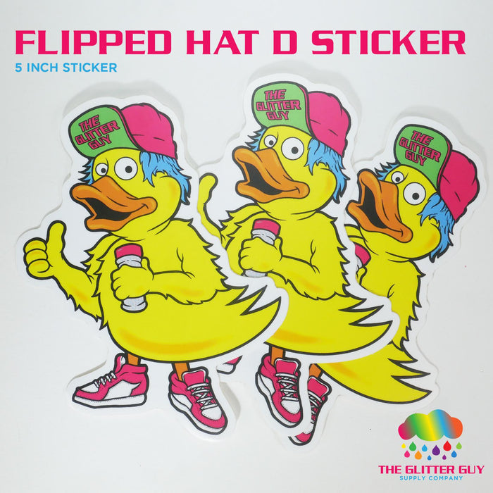 Hat Flipped D Sticker