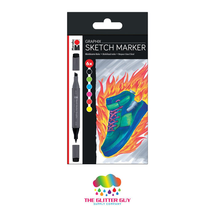Marabu Alcohol-Based Graphix Sketch Markers