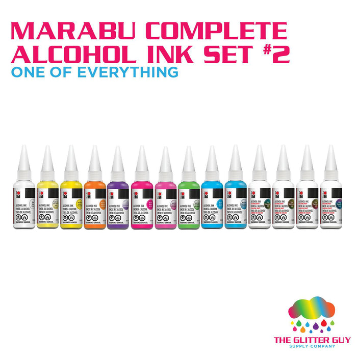 Marabu Complete Alcohol Ink Set 2 (One of Everything)