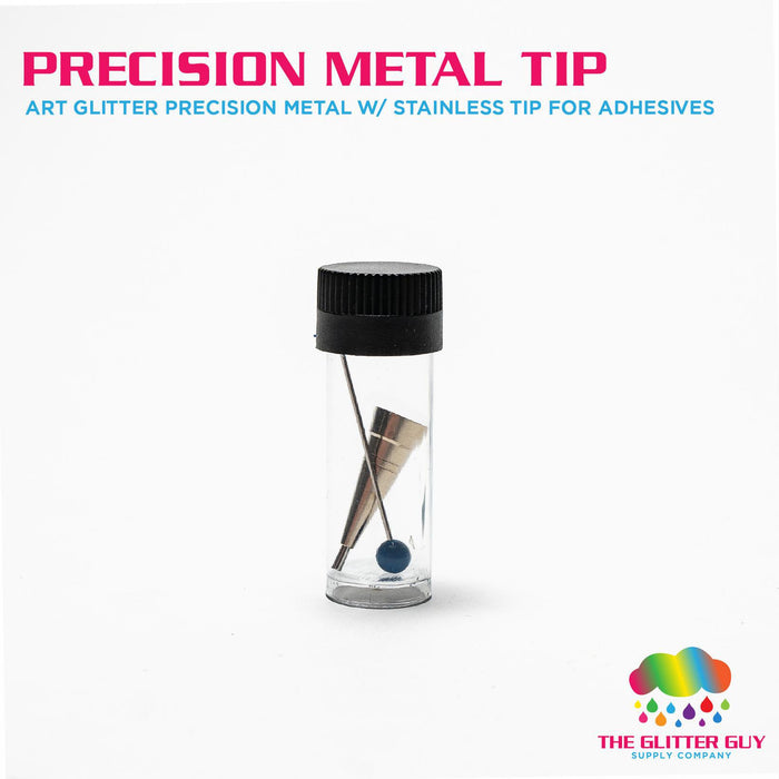 Art Glitter Precision Metal Tip W/ Stainless Tip For Adhesives