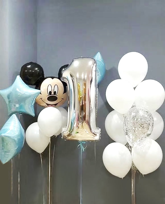 17pcs lot Mickey mouse birthday Balloons