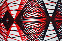 Load image into Gallery viewer, Red & Black Simetric Triangulation