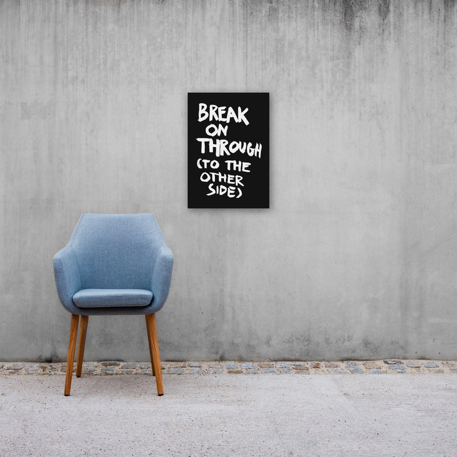 Break On Through (To The Other Side), Poster, Black - Pop Music Wisdom