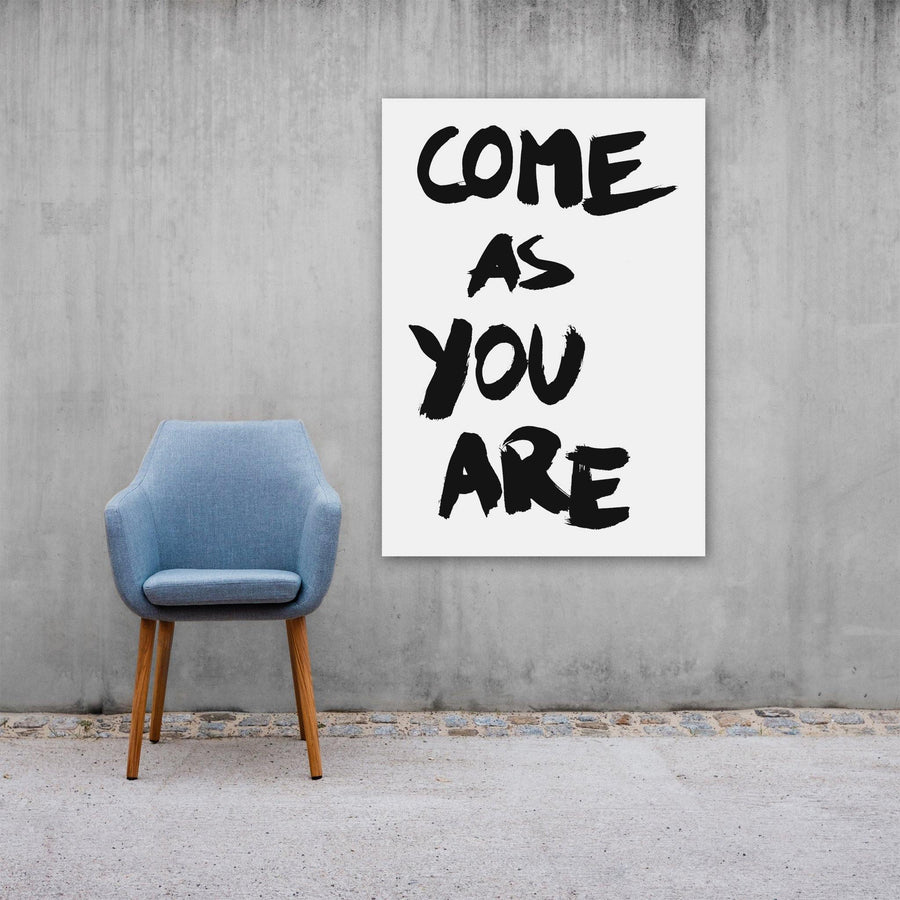 Come As You Are, Poster, White - Pop Music Wisdom