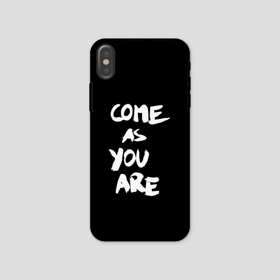 Come As You Are, Phone Case, Black