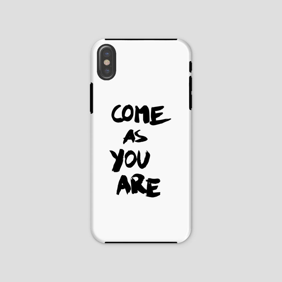 Come As You Are, Phone Case, White