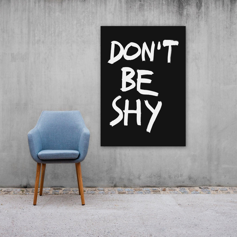 Don't Be Shy, Poster, Black