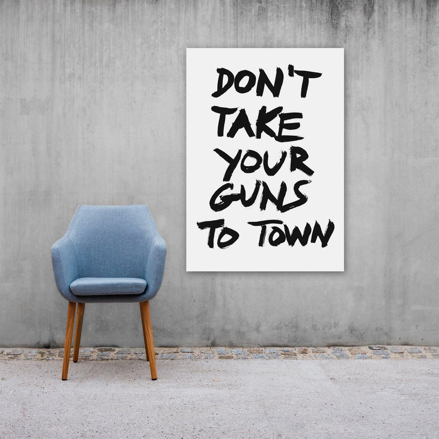 Don't Take Your Guns To Town, Poster, White