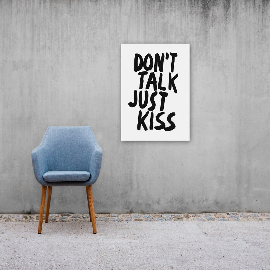 Don't Talk Just Kiss, Poster, White - Pop Music Wisdom