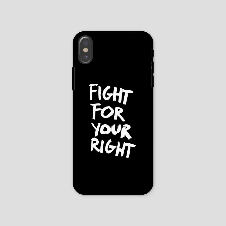 Fight For Your Right, Phone Case, Black