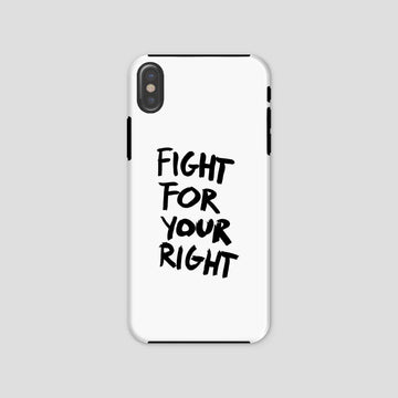 Fight For Your Right, Phone Case, White