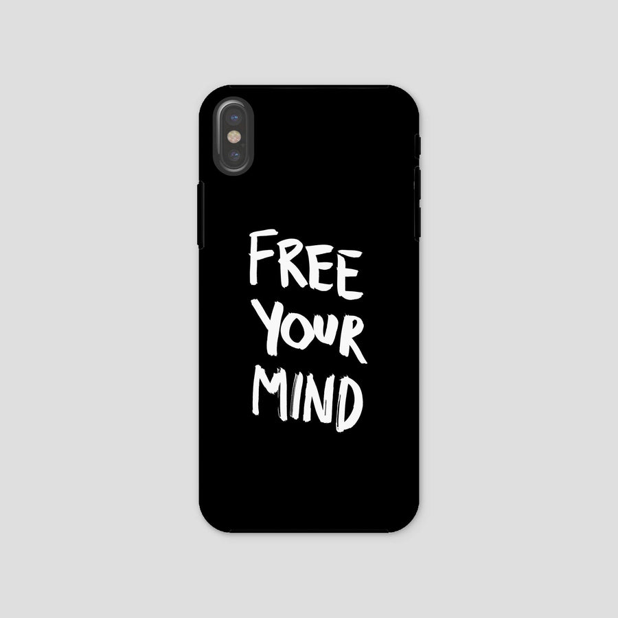 Free Your Mind, Phone Case, Black