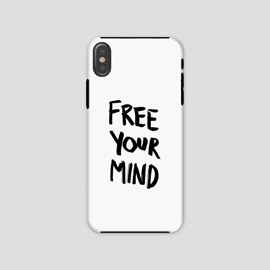 Free Your Mind, Phone Case, White